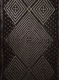 Antique Egyptian Assuit. Made with metal threads in the weave.