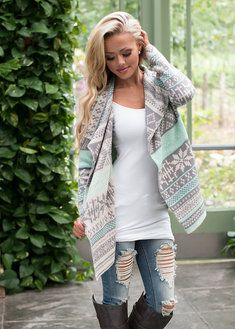 A Snowy Kind of Day Sweater Mint