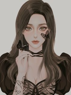 Dark Anime Girl, Pretty Anime Girl, Manga Anime Girl, Cool Anime Girl, Beautiful Anime Girl, Kawaii Anime Girl, Digital Art Anime, Digital Art Girl, Cartoon Girl Images