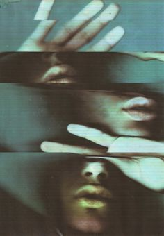 fragmented, blue, photography, lips, hands, urban, anomie, city, portrait,