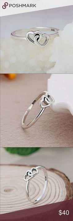 PANDORA DOUBLE LOVE RING Heart to Heart Double Love Delicate Pandora Ring Pandora Jewelry Rings #pandorajewelry #pandorajewelry