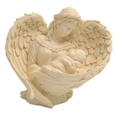 Essence of Love Figurine Inch) - Large Angel Figurines Shop Counter, Out To Lunch, Angels In Heaven, Star Patterns, Mother And Child, Cupid, Gold Glitter, Pink And Gold, Wings