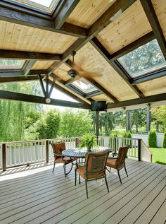 Expanded and covered deck completed by Tenhulzen Remodeling in 2008.