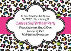 Leopard Print Invitation Leopard Print Birthday Party Invitations on Etsy, $15.00