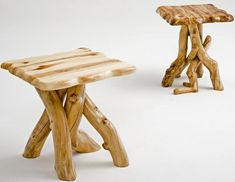 unique handmade log table | aspen log end table in free form style aspen log end table in free ...