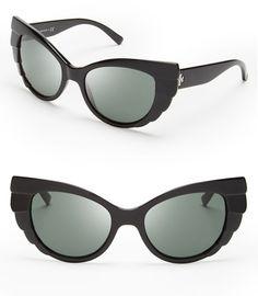 Tory Burch Beetle Cat Eye Sunglasses in Black $195 retail