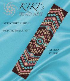 Pattern, peyote bracelet - Aztec treasure II. peyote bracelet pattern PDF instant download