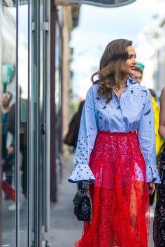 Best Paris Fashion Week Street Style Spring 2017 - Paris Street Style  Miroslava Duma a6a4a2d6ee