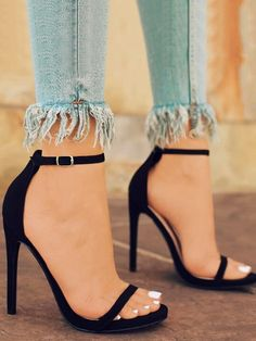 0cd6691bcc3 Sexy Open-toe Ankle Strap Heeled Stiletto Sandals. Zapatos SexysTacos  ZapatosTipos De ...