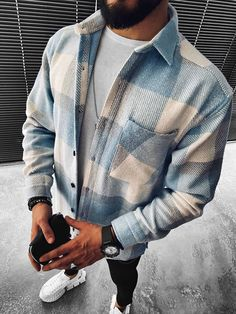 Herren Outfit, Mens Fall, Mens Clothing Styles, Trendy Mens Clothing, Men's Clothing, Men Casual, Jackets, Long Sleeve, Men's Fall Fashion