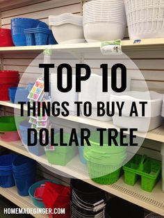 Top 10 Things to Buy At Dollar Tree