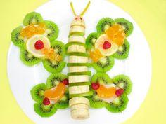 Meriendas originales: Mariposa de plátano - Recetín
