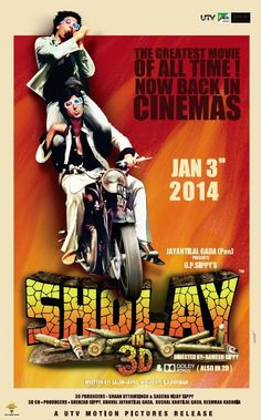 Sholay 3D. Watch Jay and Veeru coming before you in theaters with 3D this Jan 2014.  #Bollywood #Movie