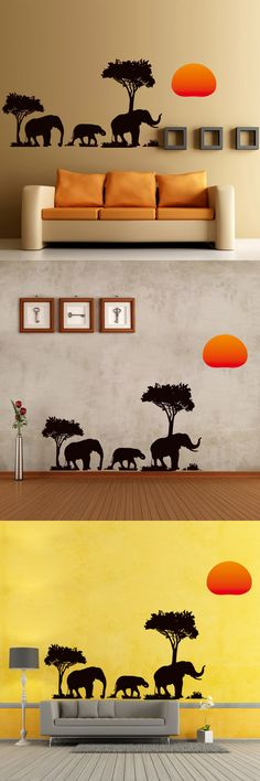 The African Elephant Style Removable Wall Sticker