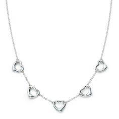 Tiffany Jewelry Elsa Peretti 5 OPEN HEART necklace $31.00 http://www.lovejewelrys.com/cheap-tiffany-jewelry-elsa-peretti-5-open-heart-necklace_5138.html