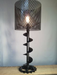 Bronze auger lamp by jtedderdesign on Etsy, $225.00