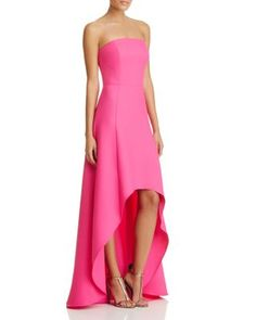 Laundry by Shelli Segal Strapless High Low Gown   Bloomingdale's