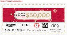 www.QVC.com/Sweepstakes - QVC Black Friday Win $50,000.00 Black Friday Sweepstakes from QVC