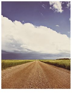 Dakota Territory...this looks like a road you would take a LONGGGG walk on to clear your mind