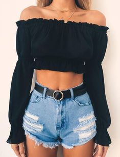 68 extraordinary cute summer outfits ideas for teen girls . - 68 extraordinary cute summer outfits ideas for teen girls … - Cute Casual Outfits, Cute Summer Outfits, Casual Summer, Cute Outfits With Shorts, Party Outfit Summer, Denim Shorts Outfit, Autumn Outfits, Summer Tops, Summer Sale