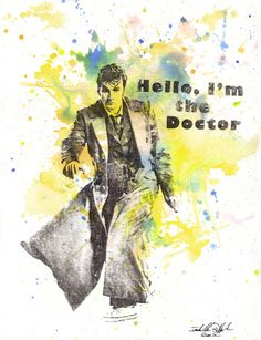 Doctor Who 10th Doctor David Tennant Art Print by Idillard