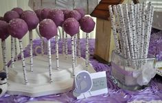 love the way the sticks look like birch branches! Photo 2 of 14: Lavender Baby Bird Shower / Baby Shower/Sip & See Lavender Baby Bird Shower