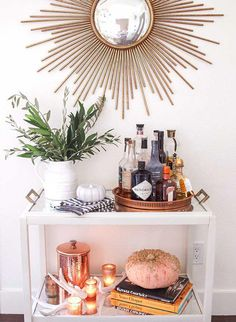 "Explore our web site for additional information on ""gold bar cart styling"". It is actually a superb spot to find out more. Diy Bar Cart, Gold Bar Cart, Bar Cart Styling, Bar Cart Decor, Bar Carts, Outside Bars, Metal Tree Wall Art, Bar Furniture, Plywood Furniture"