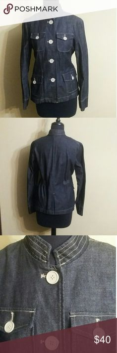 The Gap The Gap military style denim jacket. It's in great shape and goes very well beige khaki pants, white pants, all different  colors. GAP Jackets & Coats Jean Jackets
