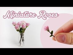 Miniature Rose - Polymer Clay Tutorial // DIY Dollhouse - YouTube