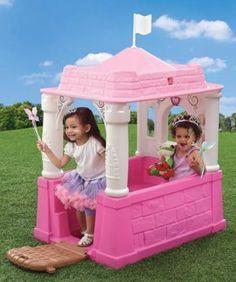 Princess-Playhouse-Castle-Outdoor-end-Indoor-backyard-playground-Kids-2 years Up #PrincessPlayhouse