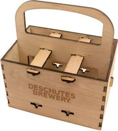 This Wooden 6-Pack Holder would make a cool gift with the right mix of Deschutes Brewery beers. $20