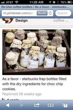 Gift in a Starbucks bottle