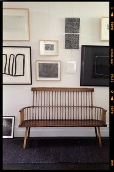 bench | gallery wall