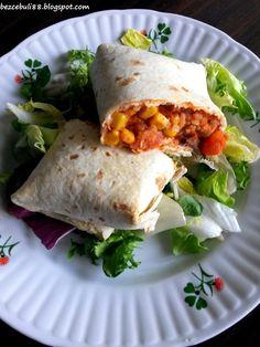 Cześć Wszystkim! :)     Dziś zapraszam na kolejny przepis inspirowany kuchnią… Appetisers, Burritos, Tasty Dishes, Appetizer Recipes, Good Food, Food And Drink, Healthy Recipes, Dinner, Cooking