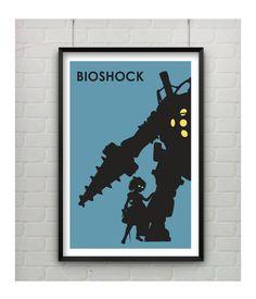 Bioshock Art Minimalist Bioshock Poster by CaptainsPrintShop, $20.00
