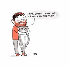 """I Gemma Correll'd myself"": Self-Portraits of an Illustrator and His Cat in 100 Different Artists' Styles"