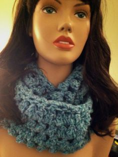 Crocheted Circle Scarf. Baby Blue.(can be made in most colors) 25.00 https://www.facebook.com/dawnsfashionaccessories