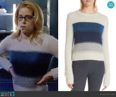 Felicity Smoak Fashion on Arrow Arrow Felicity, Felicity Smoak, Fashion Tv, Fashion Outfits, Ombre Sweater, Iris West, Supergirl And Flash, Fandom Outfits, Indie Outfits