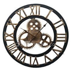 European Style Vintage Iron Mute Wall Clock(Bronze Color) - GBP £39.85 ! HOT Product! A hot product at an incredible low price is now on sale! Come check it out along with other items like this. Get great discounts, earn Rewards and much more each time you shop with us!