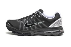 :Nike Air Max + 2009 Mens Running Shoes [486978-010] Black/Black-White 486978-010-10