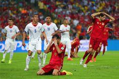 Por 2 a 0, Chile tira Espanha da Copa do Mundo 2014 | #Chile, #Copa, #Copa2014, #CopaDoMundo, #Eliminada, #Espanha, #EspanhaEliminada, #EspanhaXChile, #LuizClaudioFerreira, #Maracanã