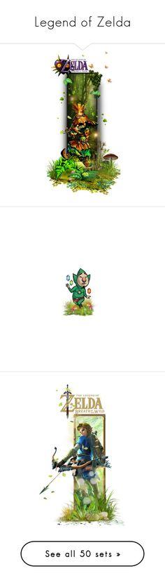 """""""Legend of Zelda"""" by girlinthebigbox ❤ liked on Polyvore featuring art, legendofzelda, majorasmask, LoZ, ocarinaoftime, skullkid, videogames, Tingle, videogame and link"""
