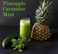 Pineapple Cucumber mint juice recipe weight loss juice feast. Looks & sounds delicious!