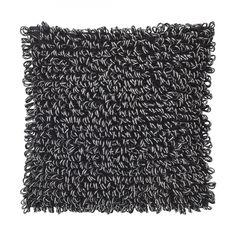 Kissen Quincy - Polyester/Baumwolle - Schwarz - 45x45 cm