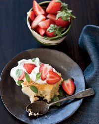 Tres Leches Cake with Strawberries Recipe from Food & Wine