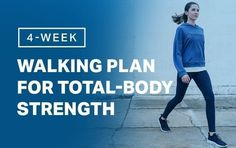 Combine incline walking and strength moves in this full-body plan. Walking For Health, Walking Exercise, Walking Workouts, Health Walk, Walking Program, Walking Plan, Body Weight, Weight Loss, My Fitness Pal
