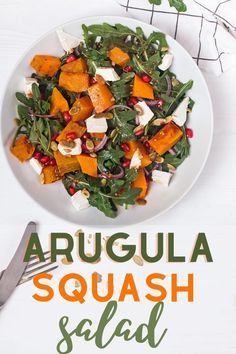 Fresh arugula, roasted butternut squash mixed with crunchy walnuts, and creamy cheese. All drizzled with an incredible Vinaigrette dressing! Simple lunch recipe, dinner salad .It is perfect alernatve for tradiional thanksgiving recipes. It is #lowcarb, #glutenfree and #kidfriendly. Wanna stay fit and healthy in holiday season check this recipe. #thankgivingtable #thanksgivingdinner #thanksgivingsalad #glutenfreesalad #vegansalad #squash #arugula