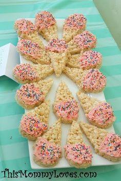 adorable ice cream cone rice krispie treats