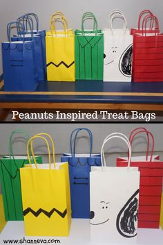 Peanuts inspired treat bags - Fun and easy to make yourself