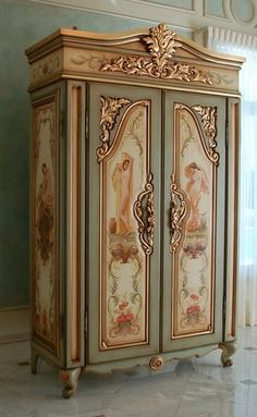 Beautiful painted armoire